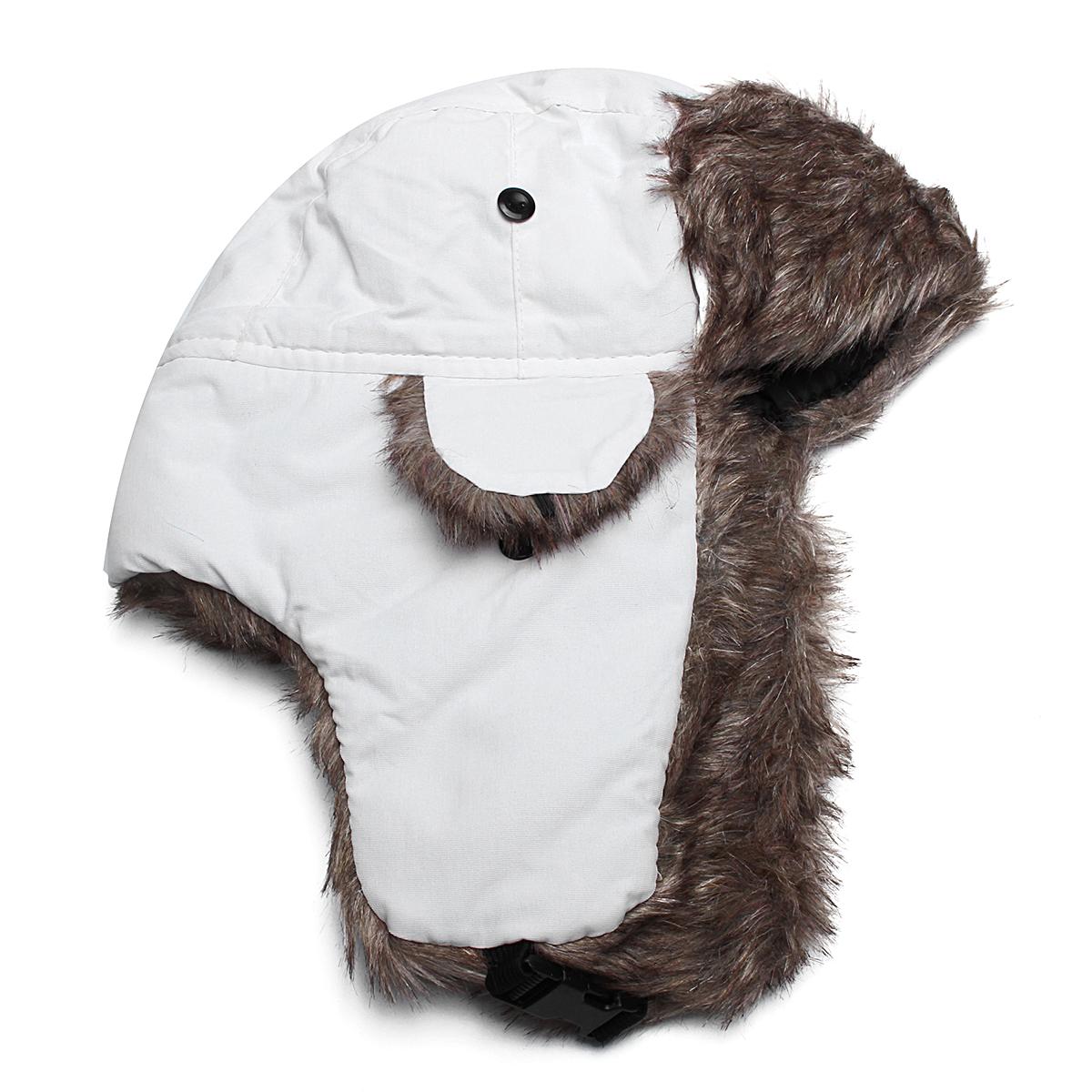 Unisexe-Chapeau-Bonnet-Russe-Chapka-Fourrure-Cache-Oreille-Masque-Hiver-Chaud miniature 13