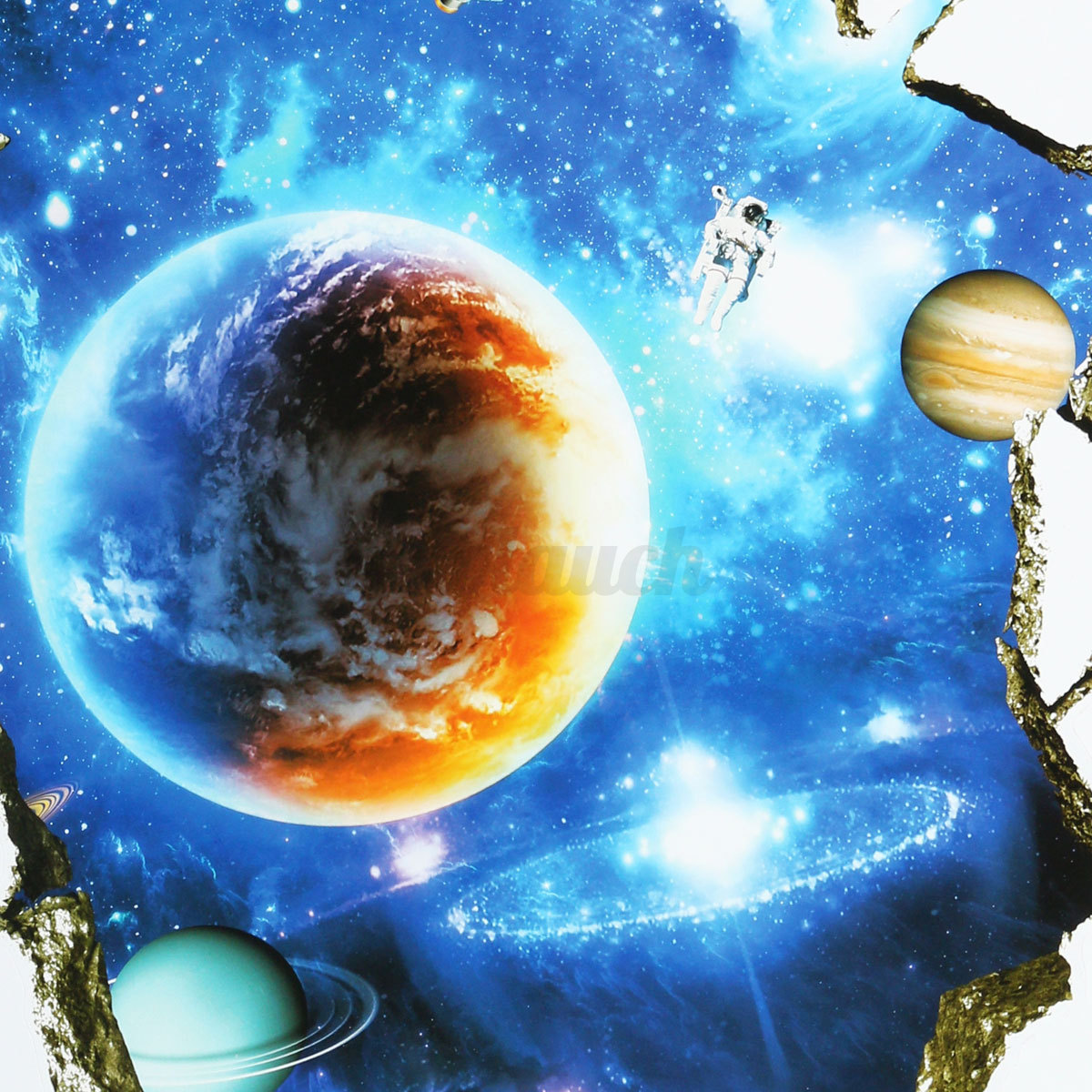 3d planet outer space wall stickers home decor mural art for 3d outer space