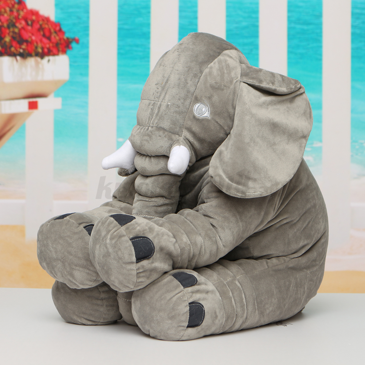 50cm Large Big Elephant Pillows Cushion Baby Plush Toy Stuffed Animal Kids Gift eBay