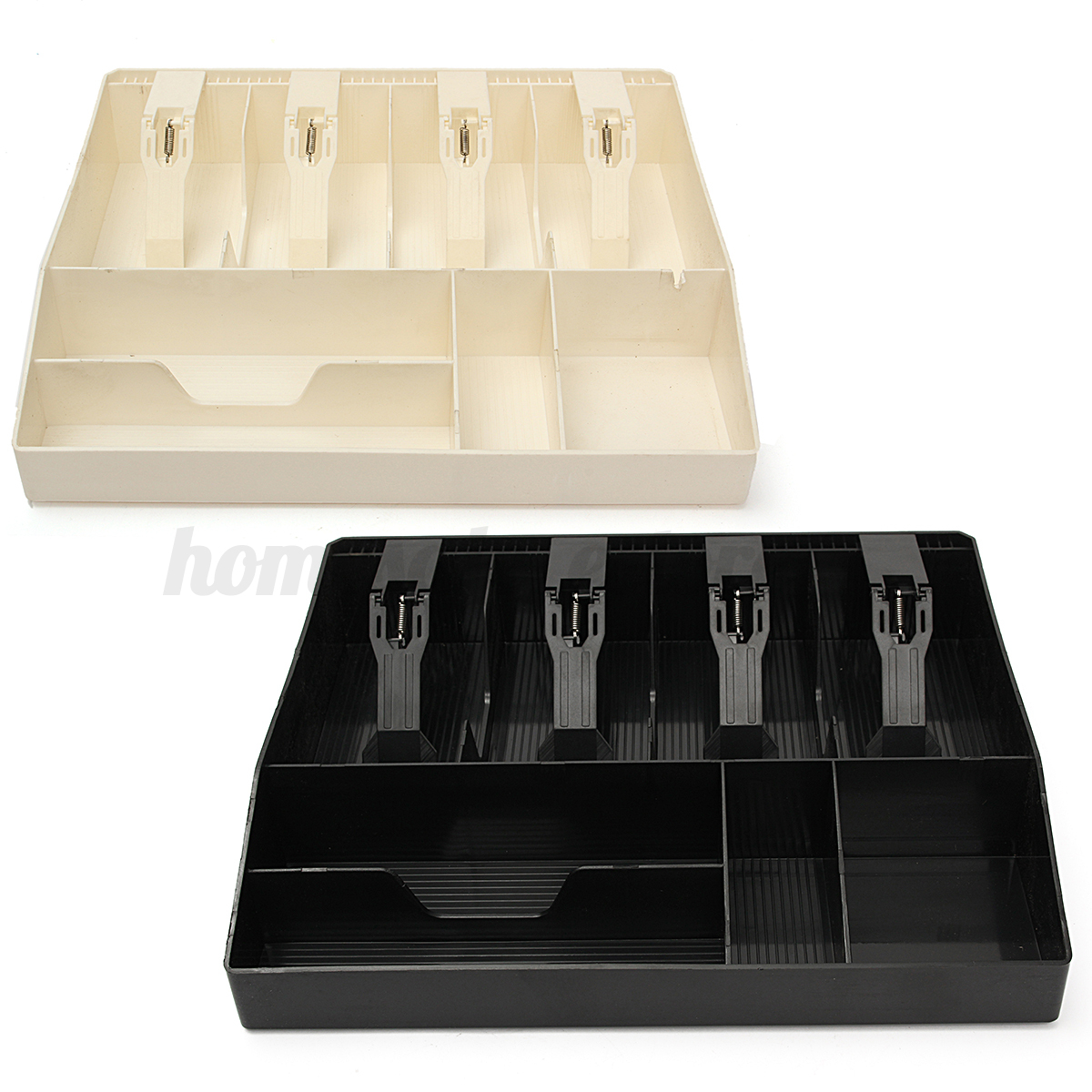 Black Cash Register Money Tray Locking Cashier Storage Box ...