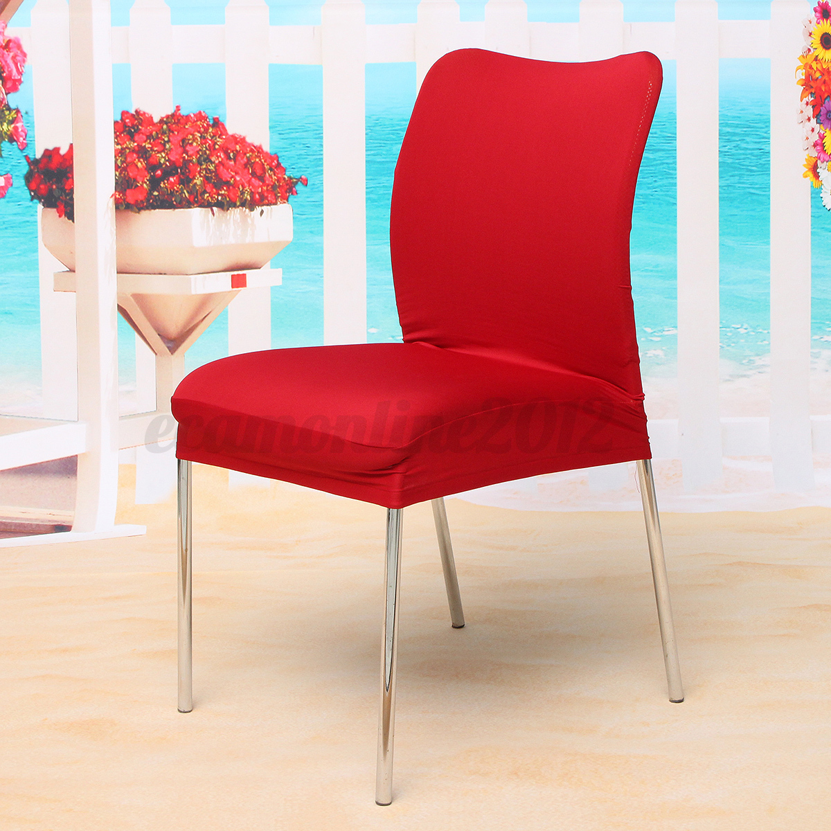 Stretch Spandex Dining Seat Chair Covers Kitchen Xmas