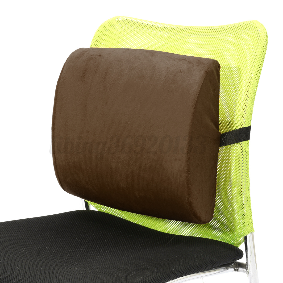 Memory Foam Lumbar Cushion Travel Pillow Car Flight Seat