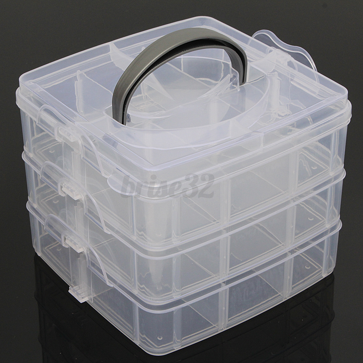 Jewellery Packaging And Bead Storage With: New Clear Plastic Jewelry Bead Storage Box Container