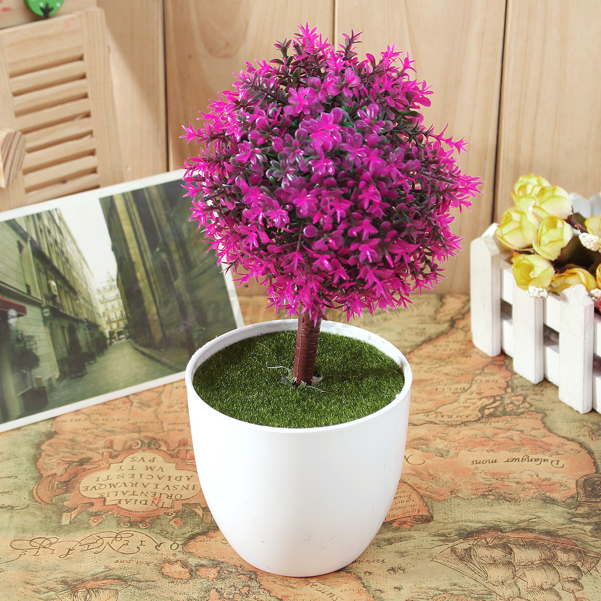 Artificial Topiary Buxus Tree & Ball Plants Pot Garden ...