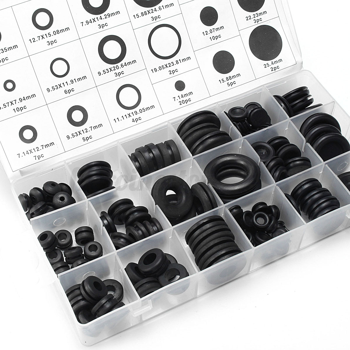 125pc Rubber Blanking Grommet Wiring Closed Open Blind Grommets Set 1 Of 10free Shipping Assorted Kit