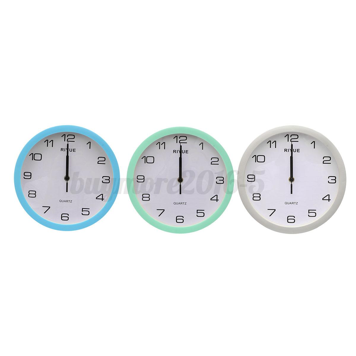 silent sweep movement quartz wall clock home bedroom decor ebay
