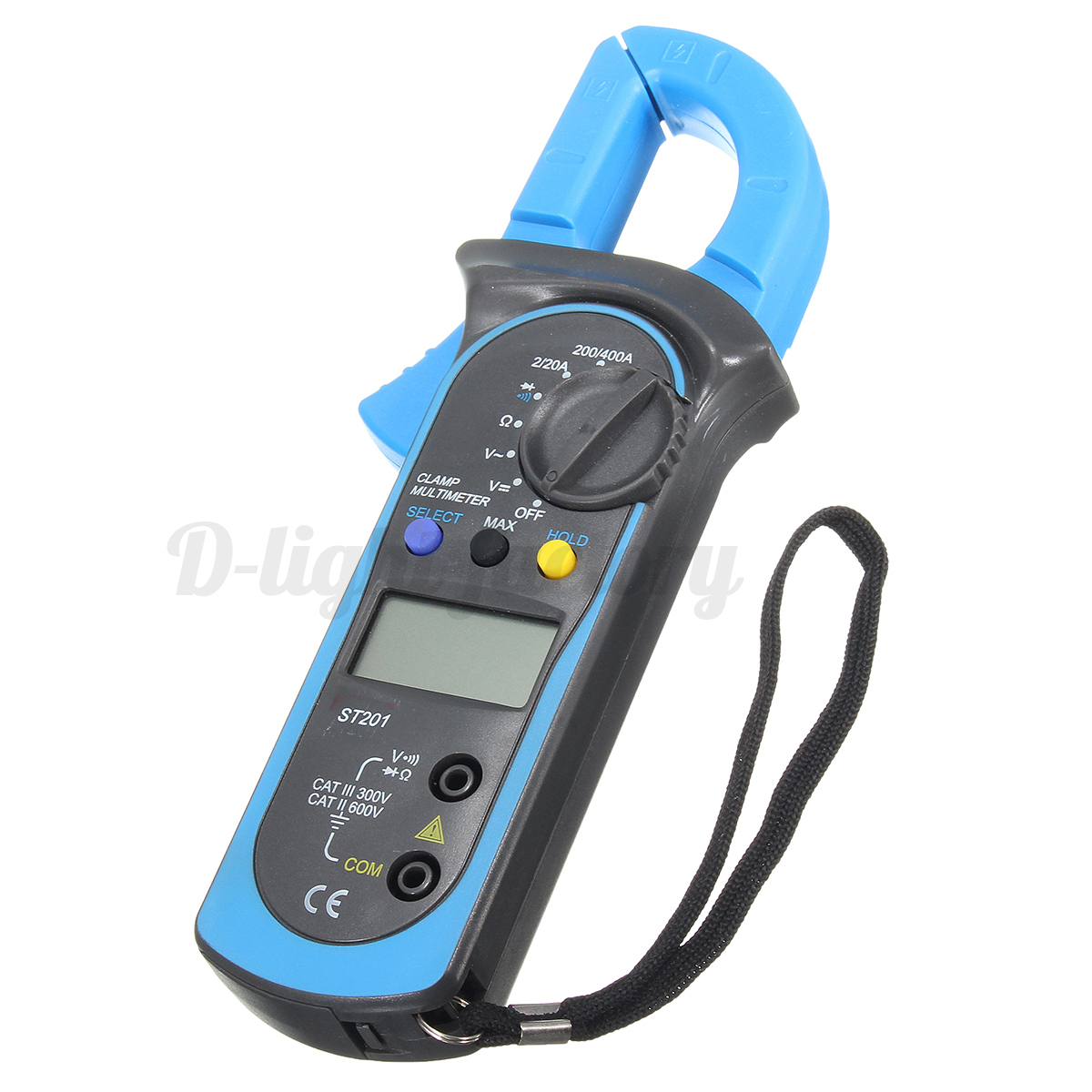 Clamp On Multimeters Current Probes : Digital clamp multimeter amp meter ohm ac current voltage