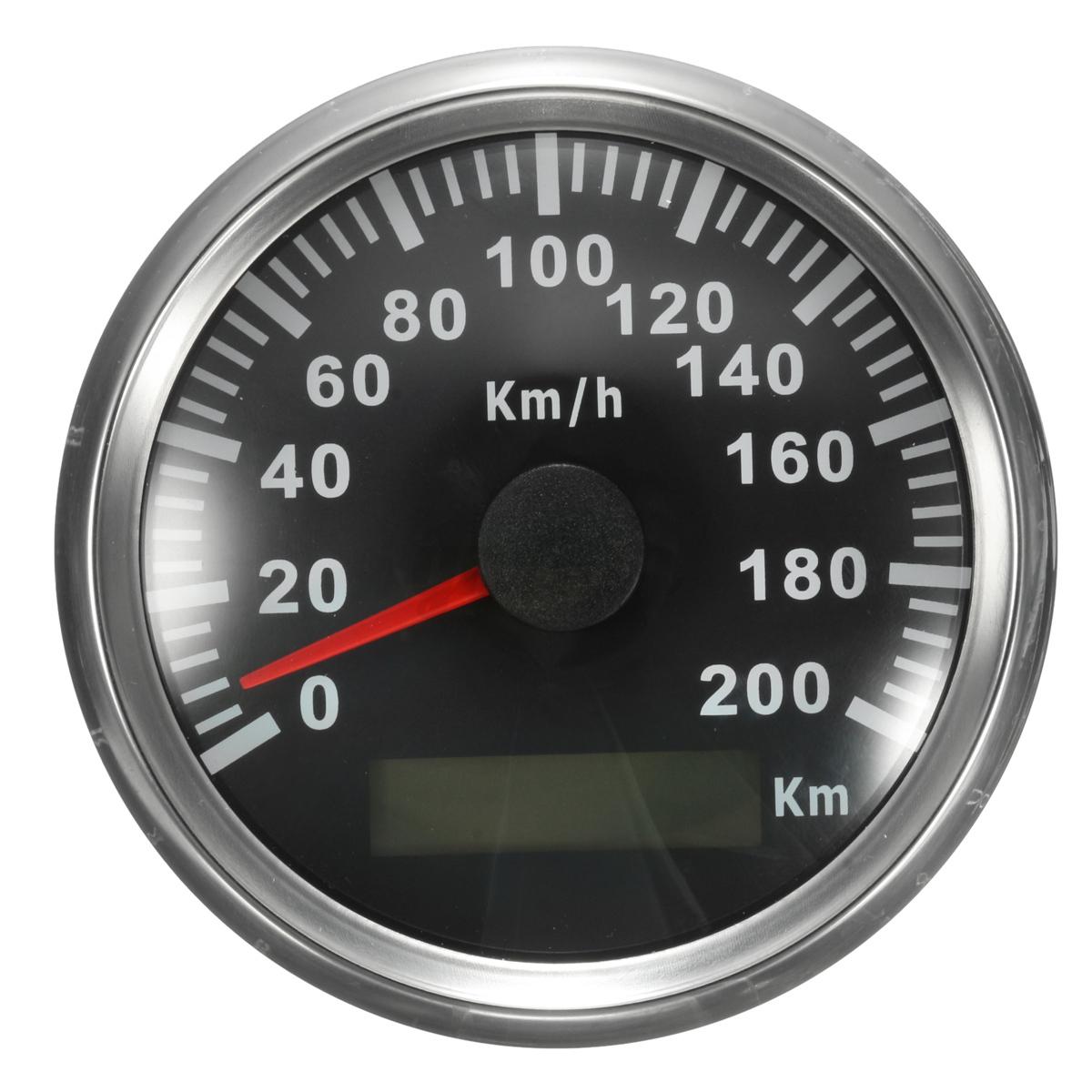 200km h 85mm voiture moto acier inox digital tachym tre for Sur la table et 85 manual