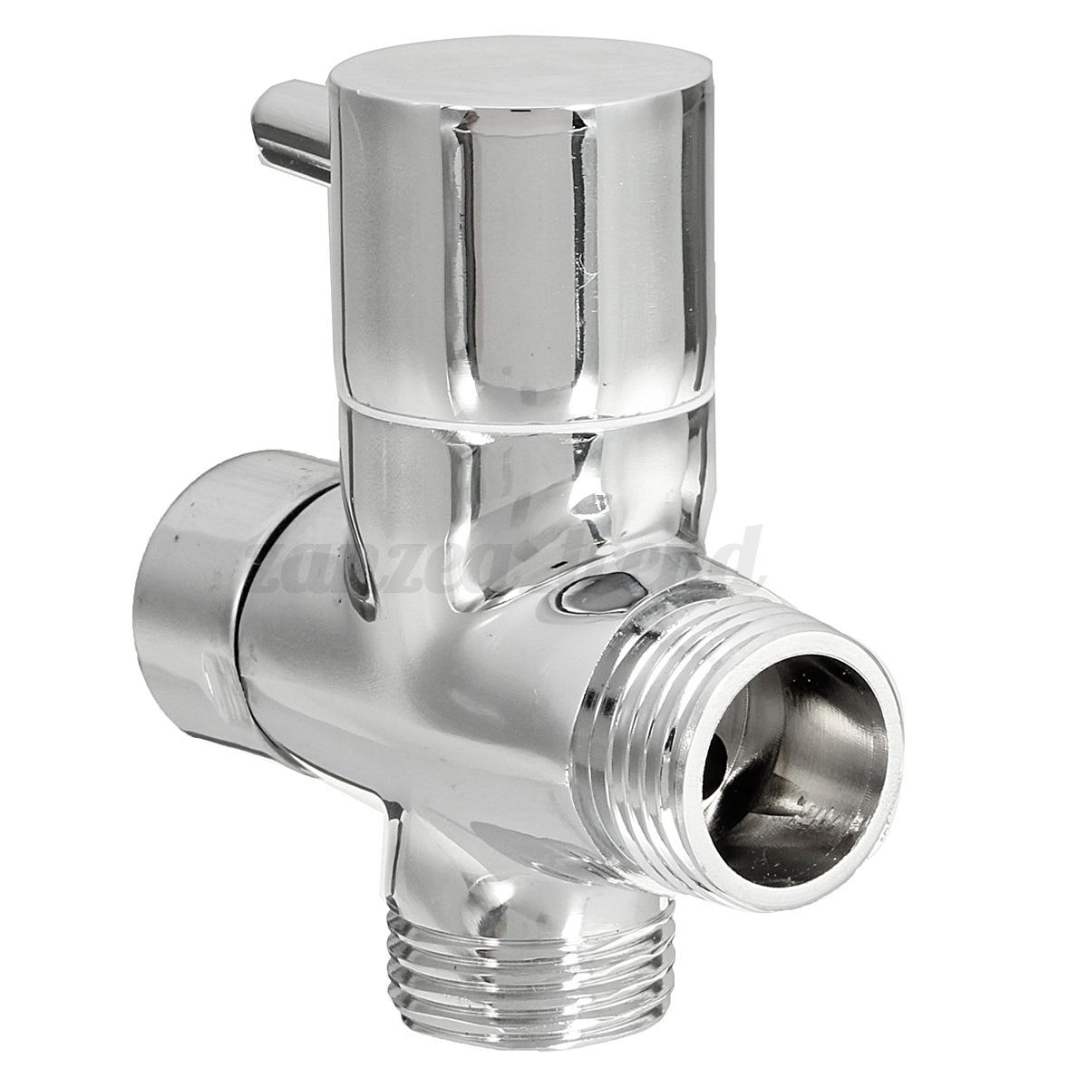 G1 2 3 Way Brass T Adapter Diverter Valve For Bidet Sprayer Tap Shower Diagram Velo Thermostatic Detail Image