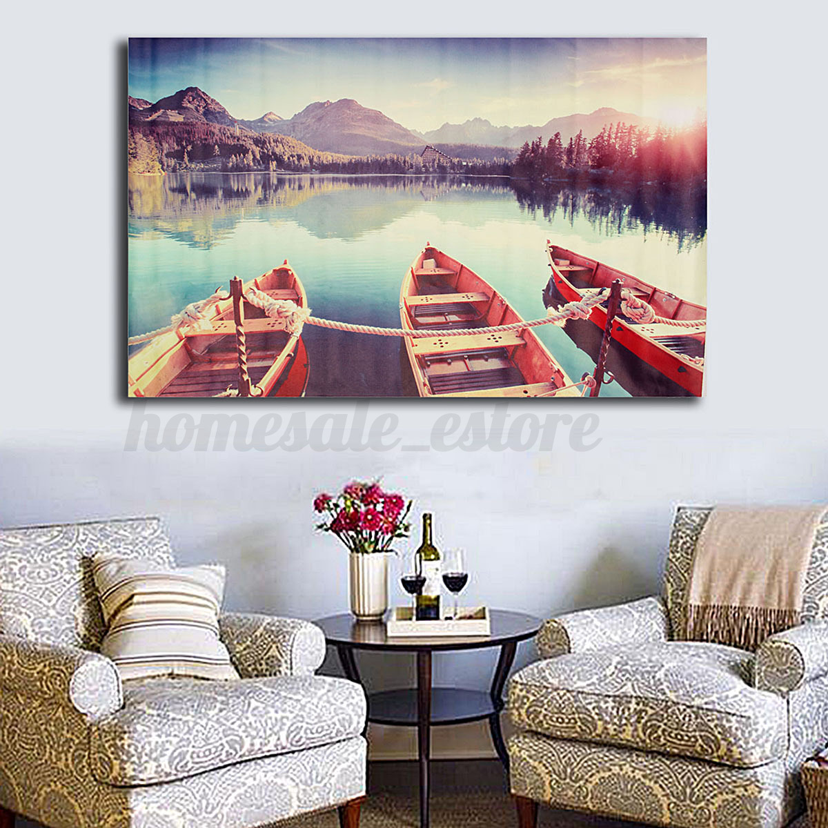 Modern abstract canvas print painting picture wall mural for Canvas mural painting