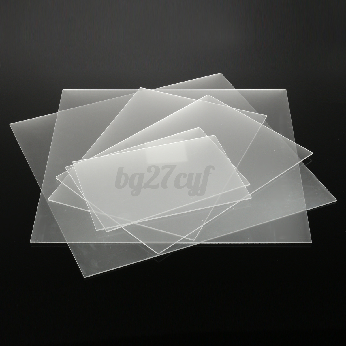 3mm Frosted Clear Acrylic Sheet Muti Sizes Plastic Panel