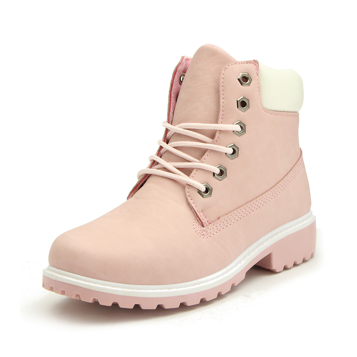 8b55ff59848ef Details about Nis Women's Work Boots Winter Leather Lace up Outdoor  Waterproof Casual Shoes