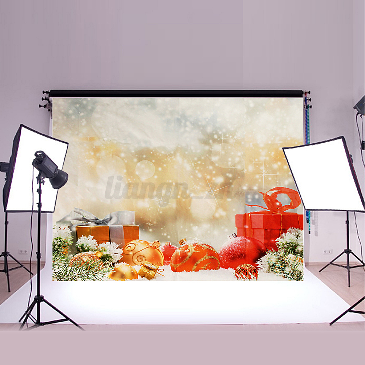 toile de fond vinyl backdrop photographie photo studio no l f te murale d cor ebay. Black Bedroom Furniture Sets. Home Design Ideas