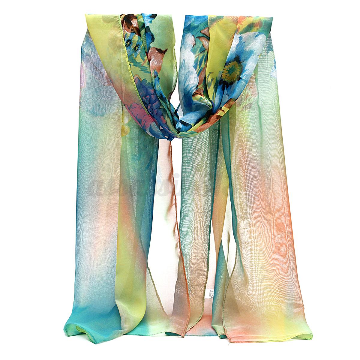 fashion stylish thin wrap soft silk chiffon