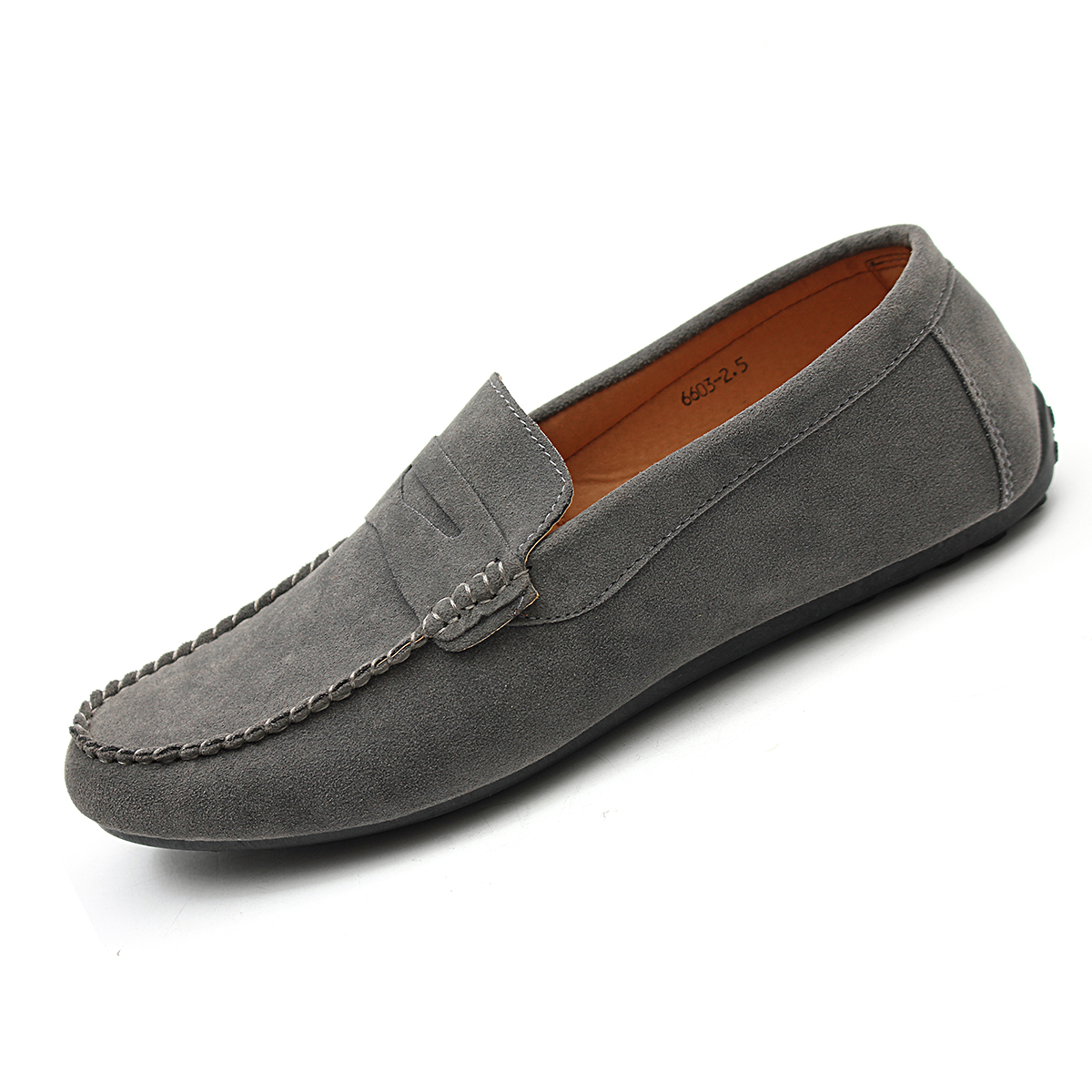 casual suede leather slip on driving shoes moccasin