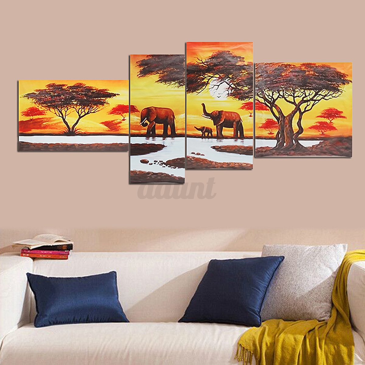 Modern abstract unframed canvas print painting picture for Contemporary wall mural