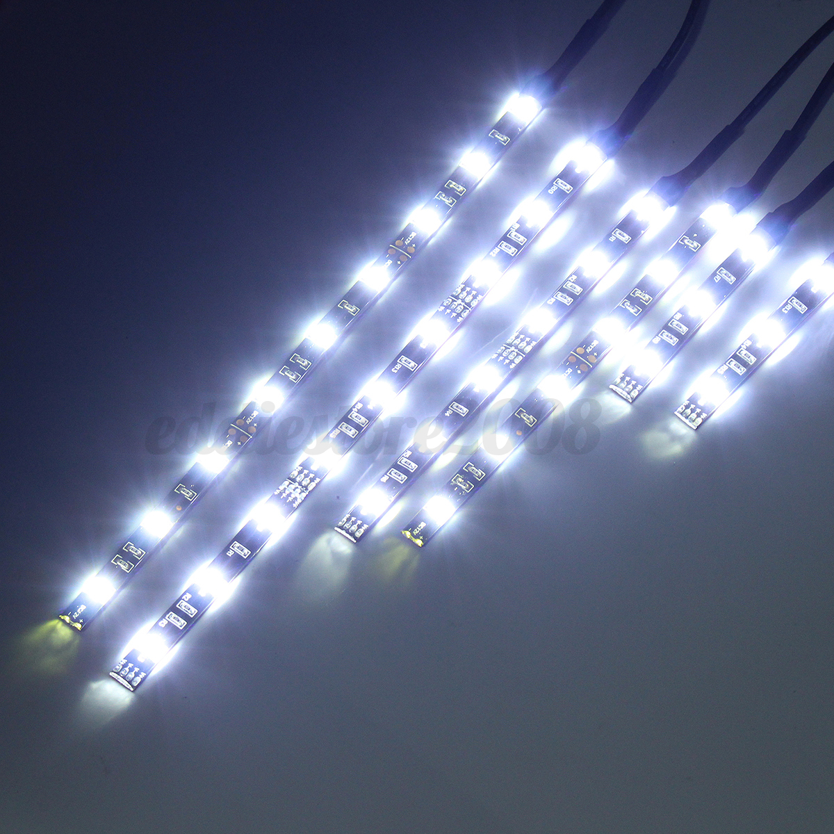 6pcs white led 12v car motorcycle frame glow lights - Neon led 12v ...