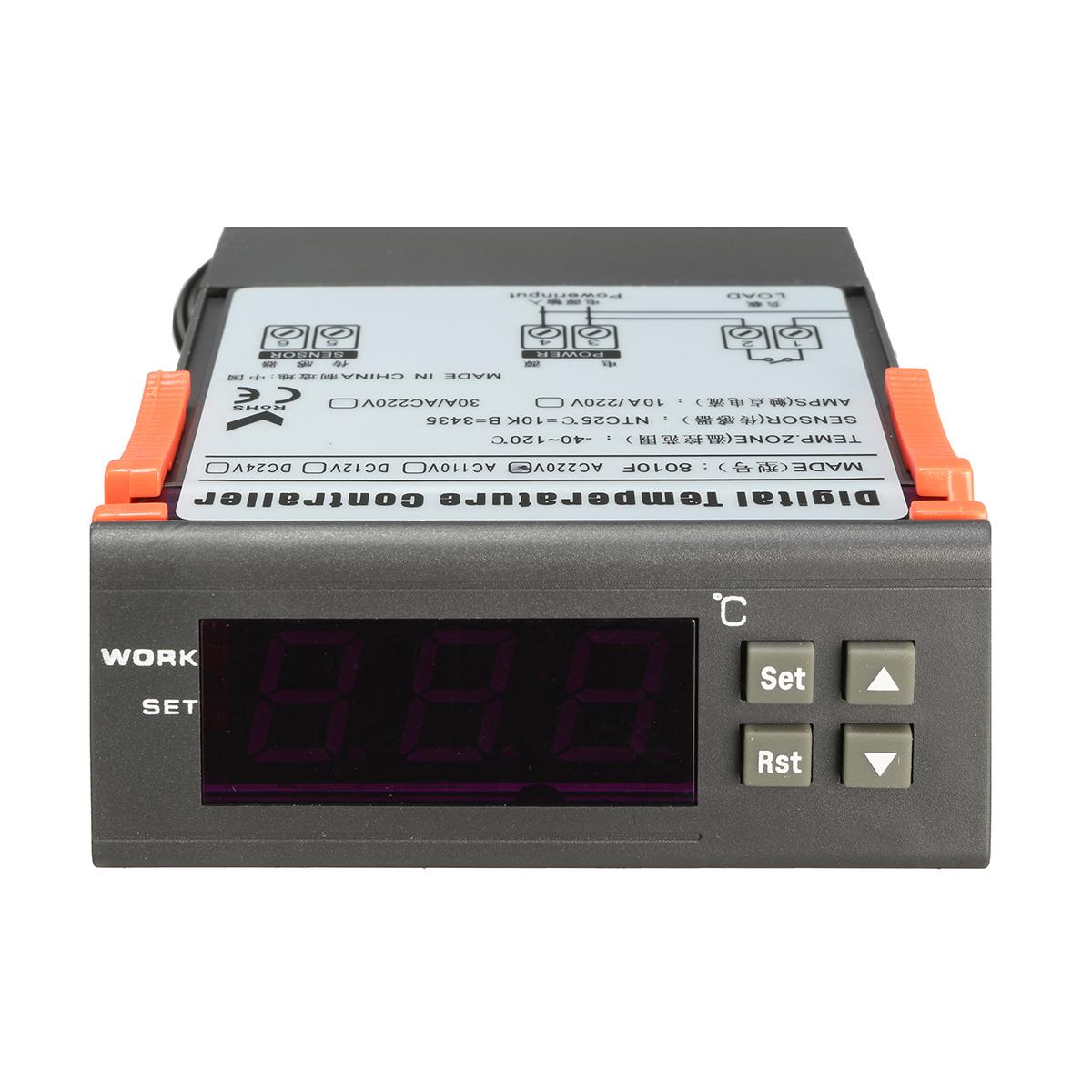 12v 110v 220v termostato termoregolatore led digitale con for Termostato per tartarughe