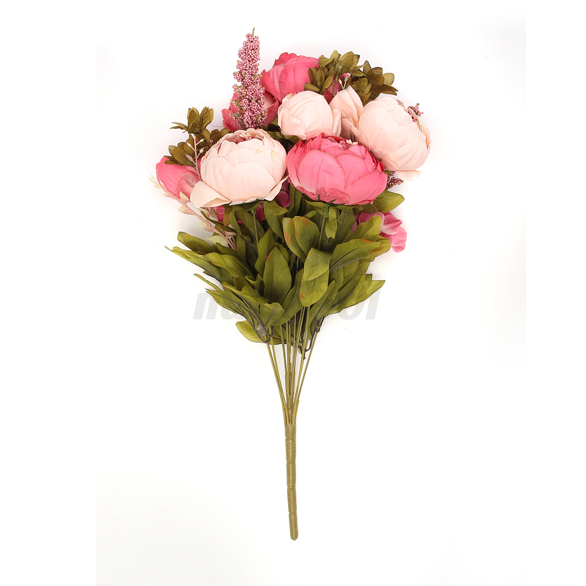 Flowers artificial peony silk fake bouquet home wedding for Artificial flowers decoration home