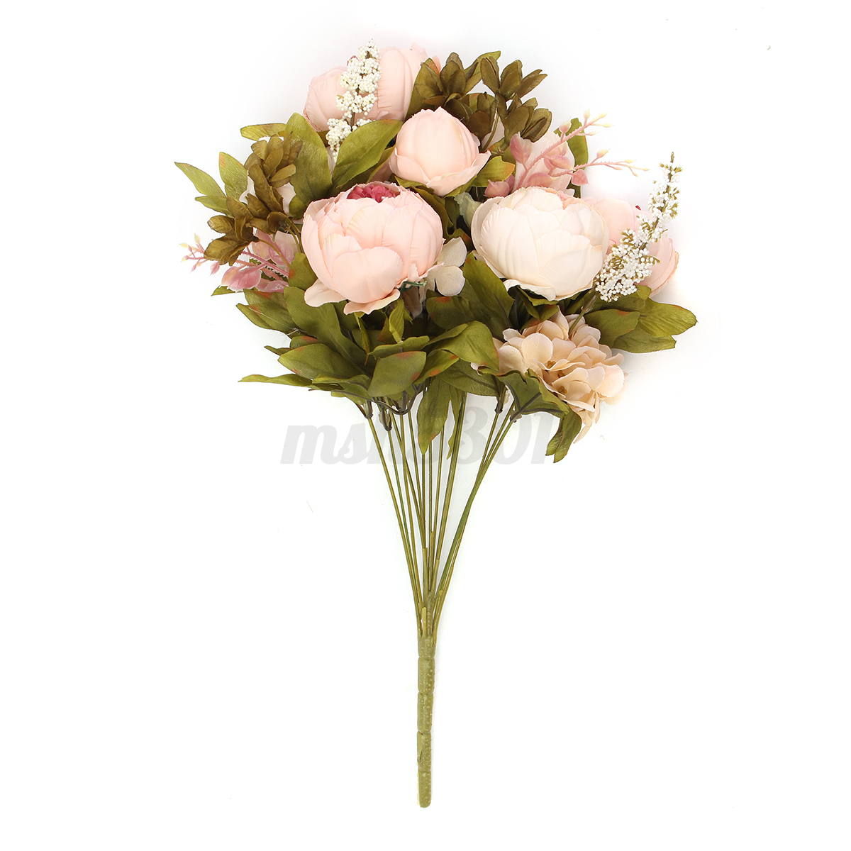 Flowers artificial peony silk fake bouquet home wedding for Artificial flowers for wedding decoration