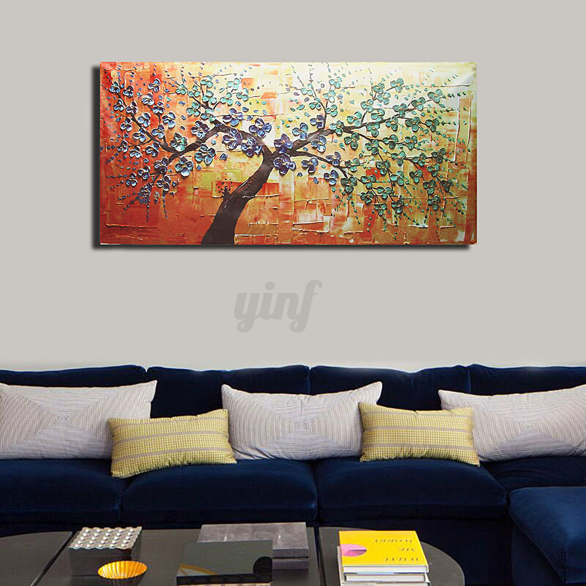 Unframed modern abstract canvas print painting picture for Canvas mural painting