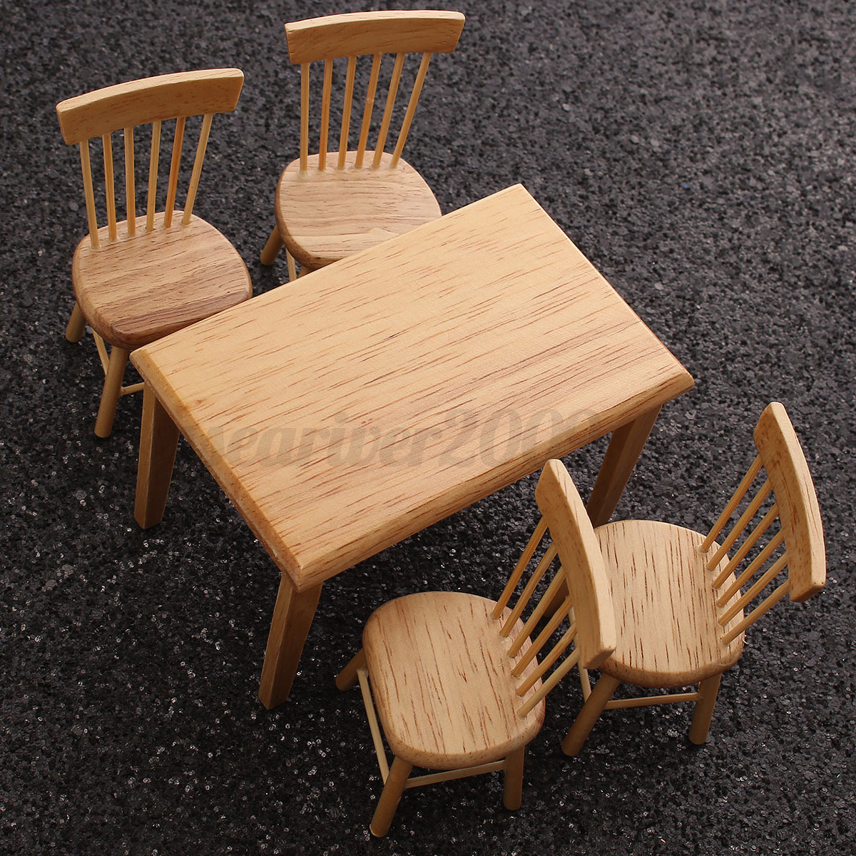 kit diy dollhouse miniature meubles chambe en bois maison. Black Bedroom Furniture Sets. Home Design Ideas