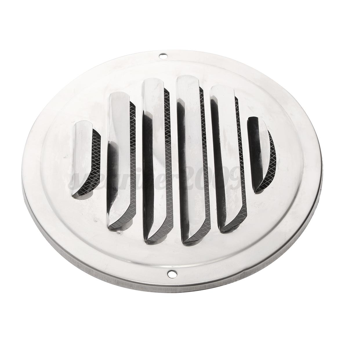 stainless steel circle air vent grille door ventilation. Black Bedroom Furniture Sets. Home Design Ideas