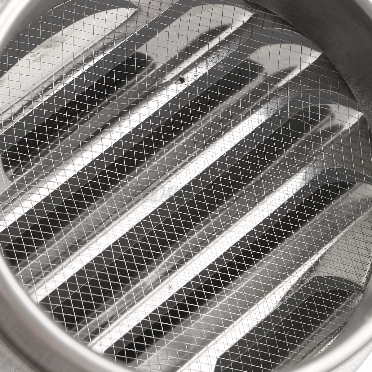 Stainless Steel Duct Grille : Stainless steel circle air vent grille door ventilation