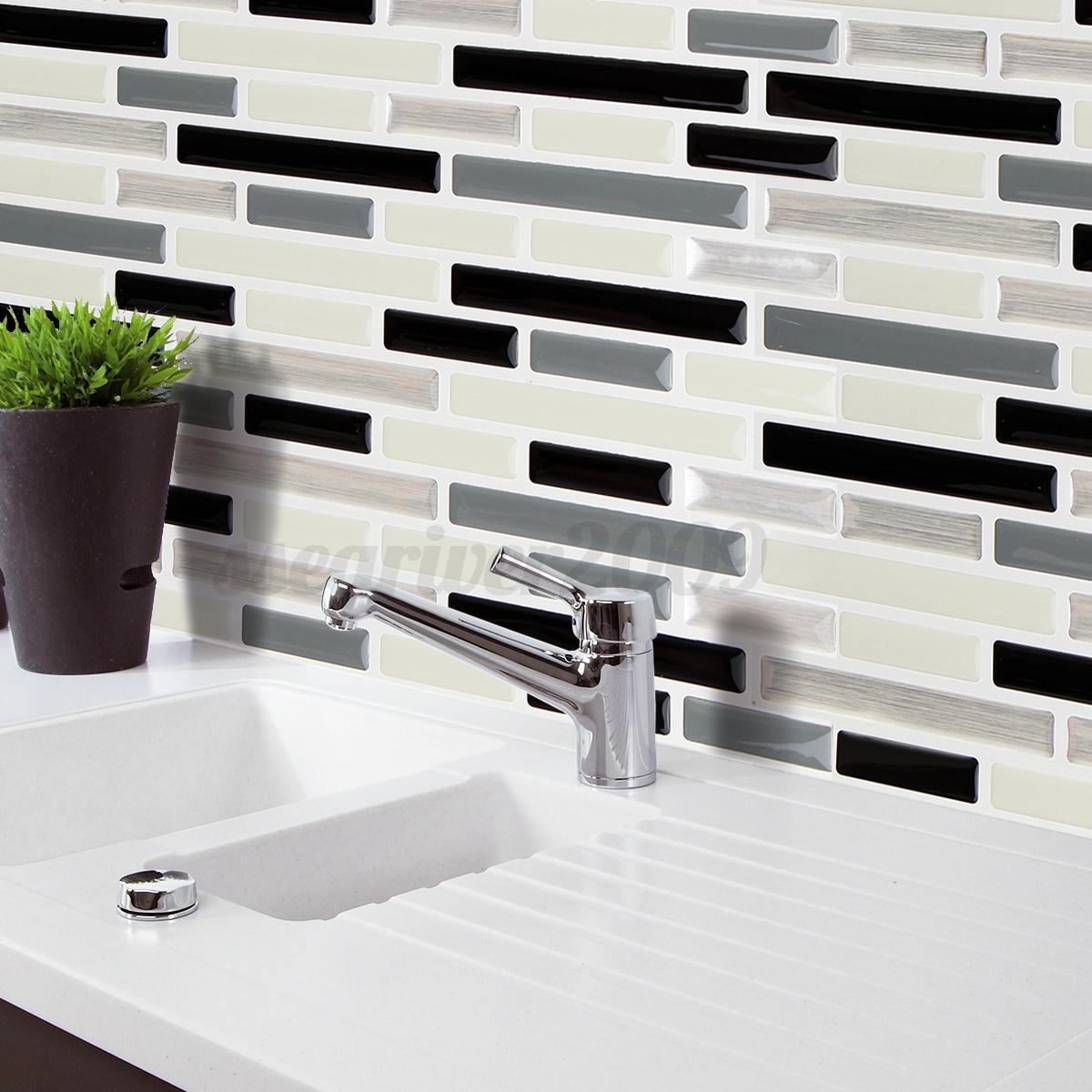 Kitchen Wall Tiles Modern: 3D Mosaic Tile Modern Wall Foil Sticker Bathroom Kitchen