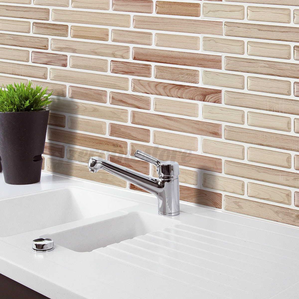 ideas to decorate a bathroom 3d wall sticker tile brick self adhesive mosaic kitchen 24353