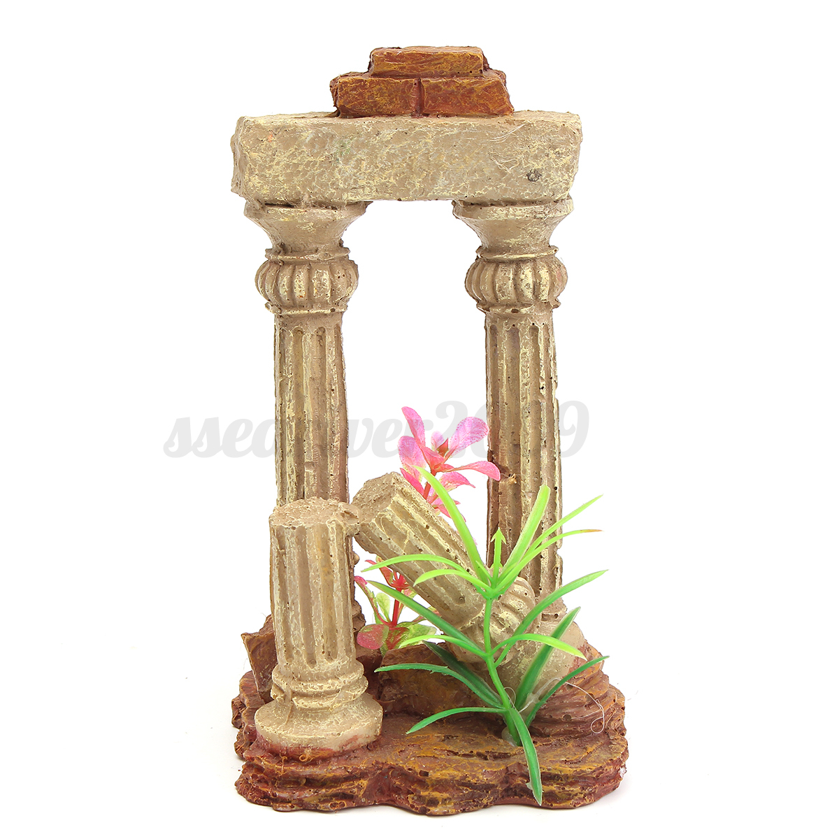 Aquarium resin medieval castle tower house fish tank for Tower fish tank