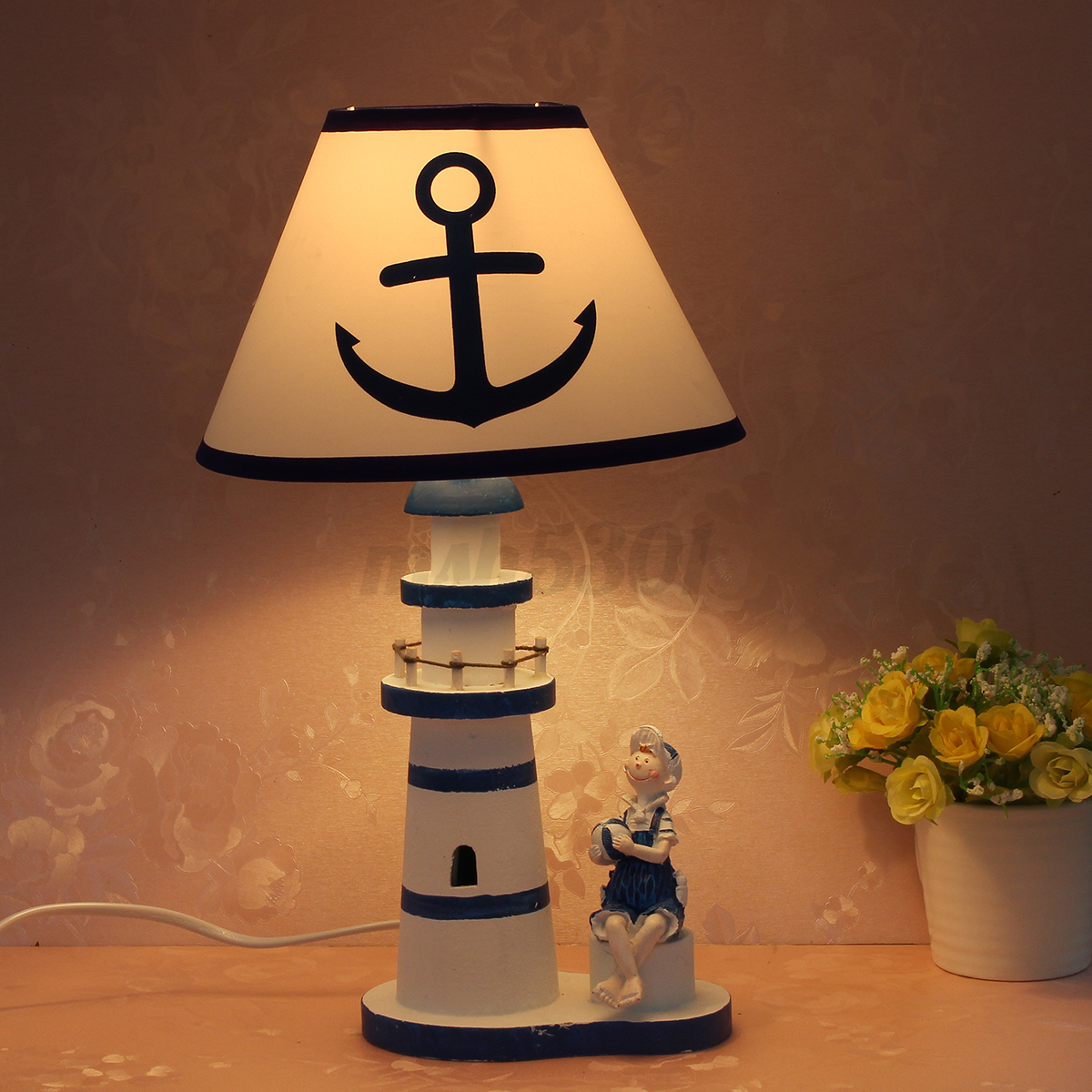 Nautical Lighthouse Desk Lamp Light Study Light Anchor
