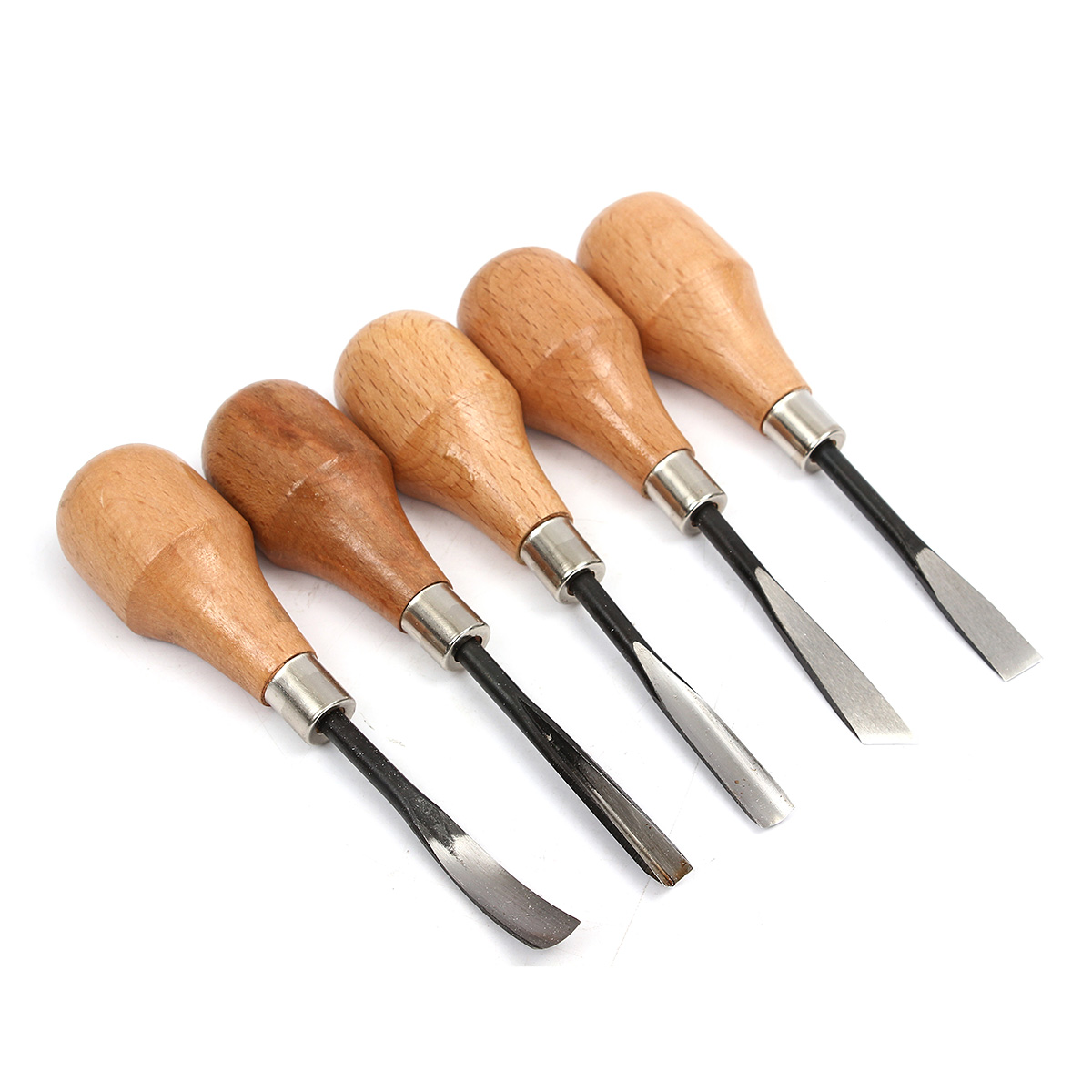 5pcs Set Hand Wood C