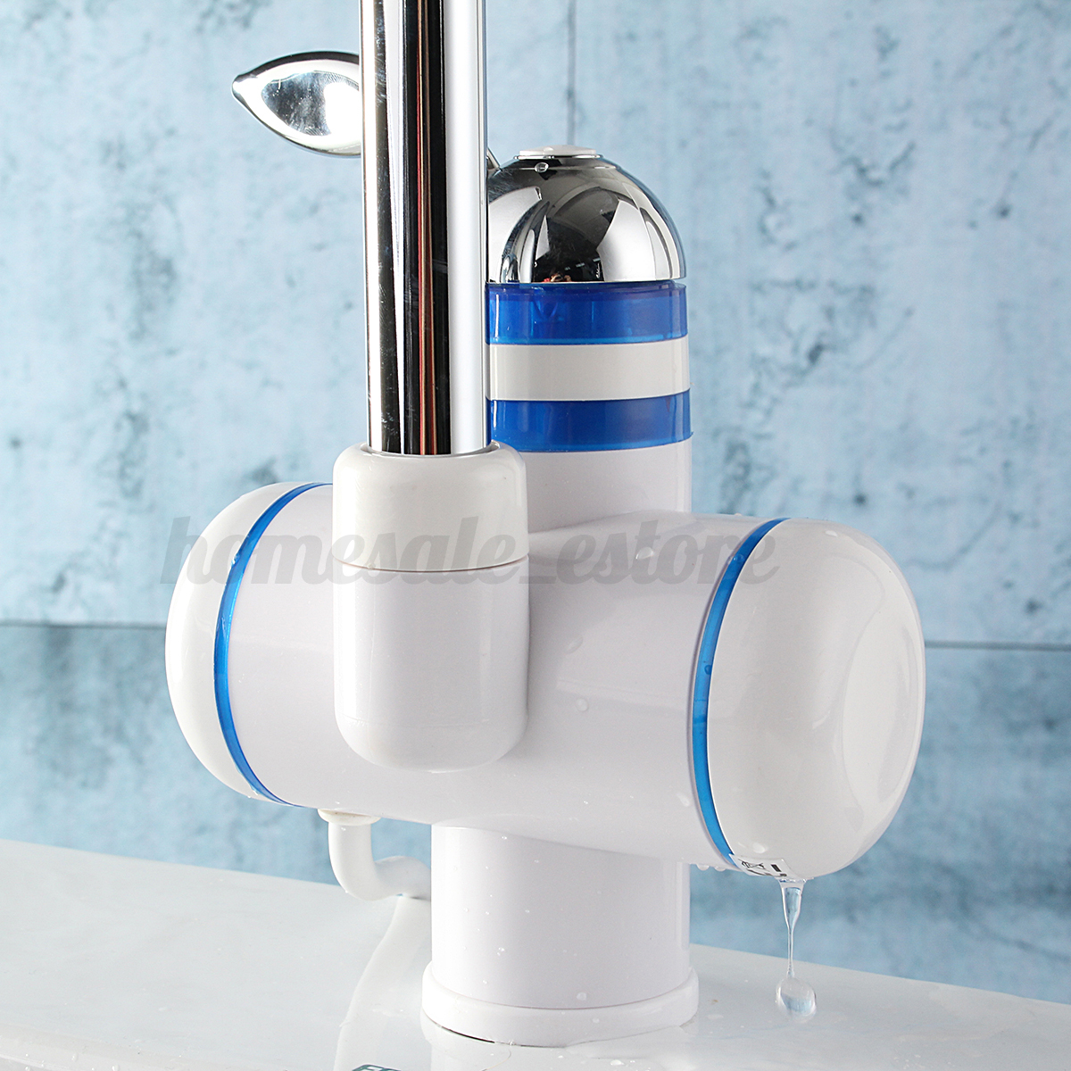 Tankless instant electric hot water heater faucet bathroom kitchen heating tap ebay for Tankless water heater for bathroom
