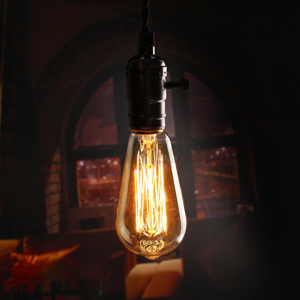 E27 Metall Vintage Industrial Hängeleuchte Deckenlampe Käfig Draht ...
