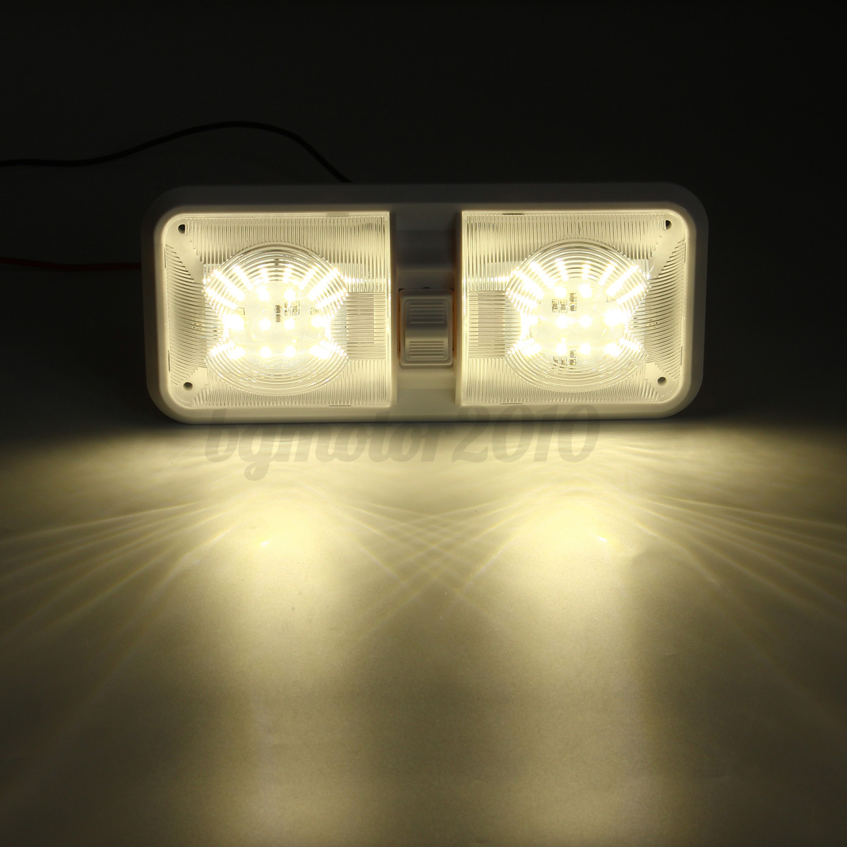 12v 48 Led Double Dome Roof Ceiling Interior Light For Rv