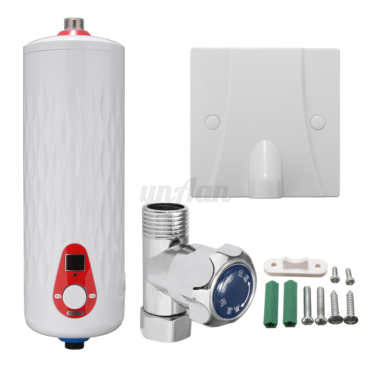 Kitchen bathroom instant electric hot water tankless tap for 3 bathroom tankless water heater