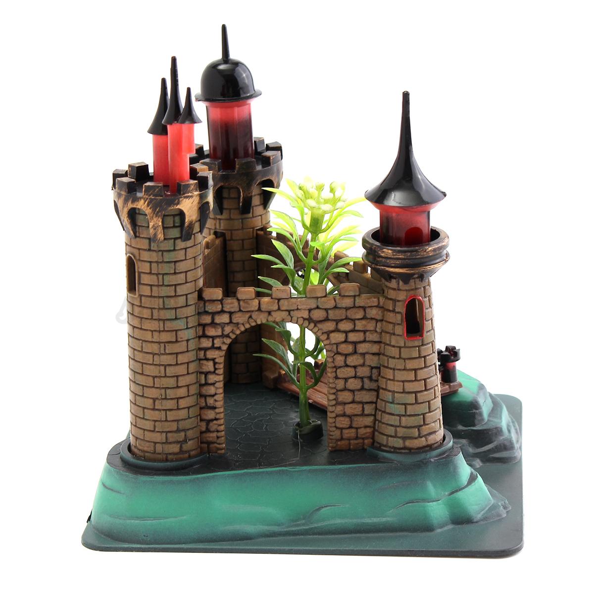 Aquarium resin royal tower castle fish tank ornament fish for Tower fish tank