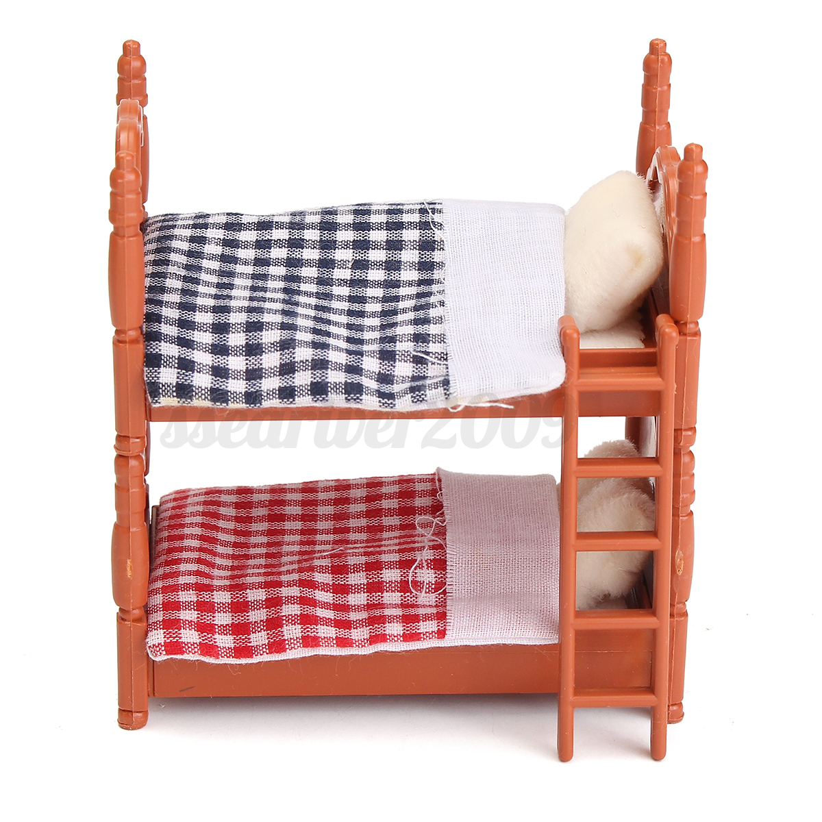 1 12 Scale Dollhouse Miniature Furniture Plastic Bunk Bed Bedroom Acessories