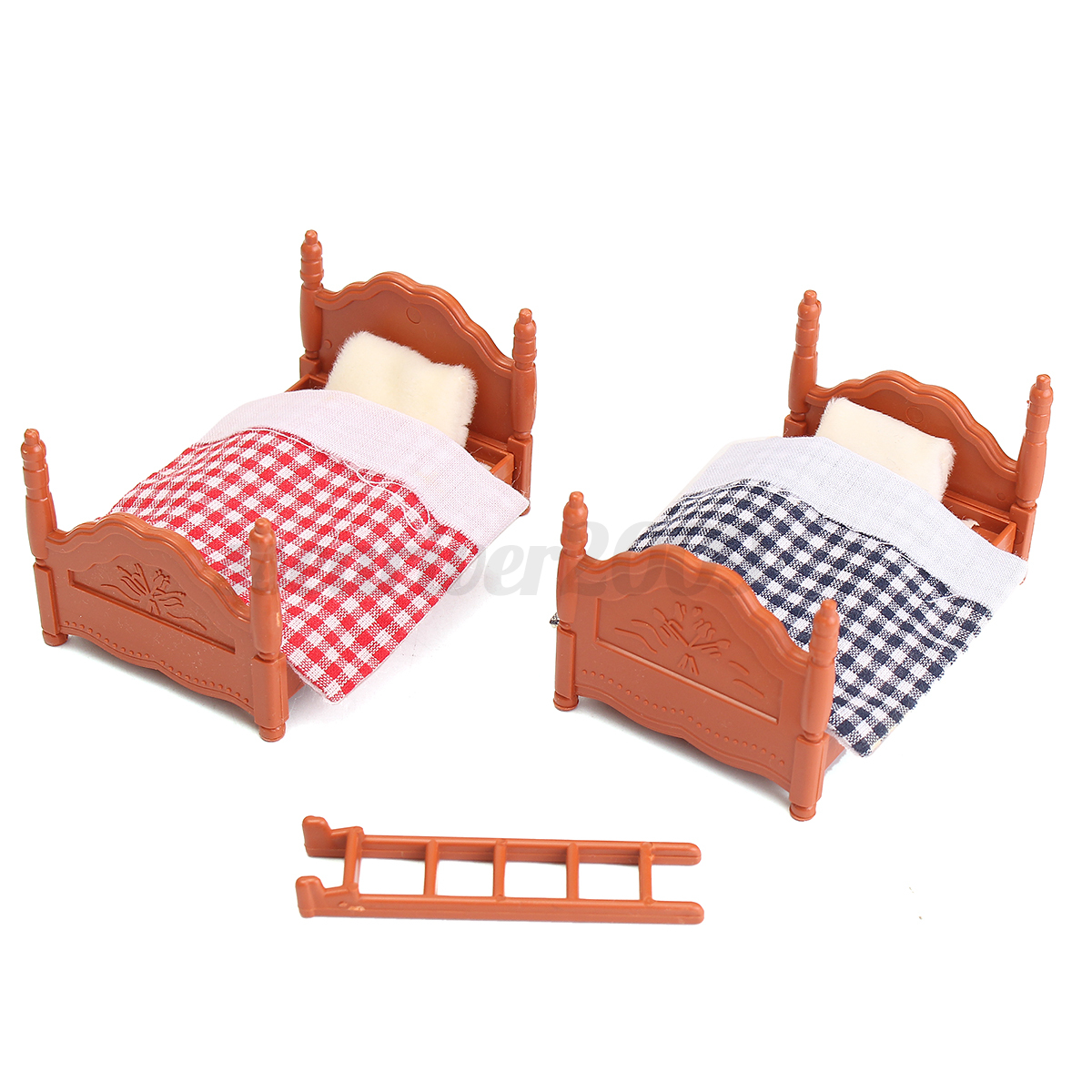1 12 scale dollhouse miniature furniture plastic bunk bed bedroom acessories ebay Plastic bedroom furniture