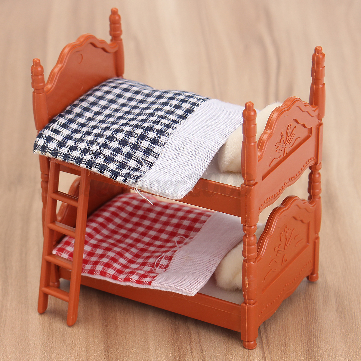 1 12 Scale Dollhouse Miniature Furniture Plastic Bunk Bed Bedroom Acessories Ebay