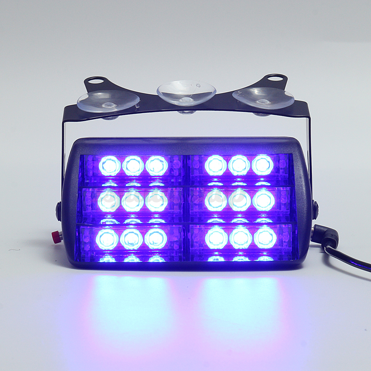 18 led blue firefighter vehicle emergency dash warning. Black Bedroom Furniture Sets. Home Design Ideas
