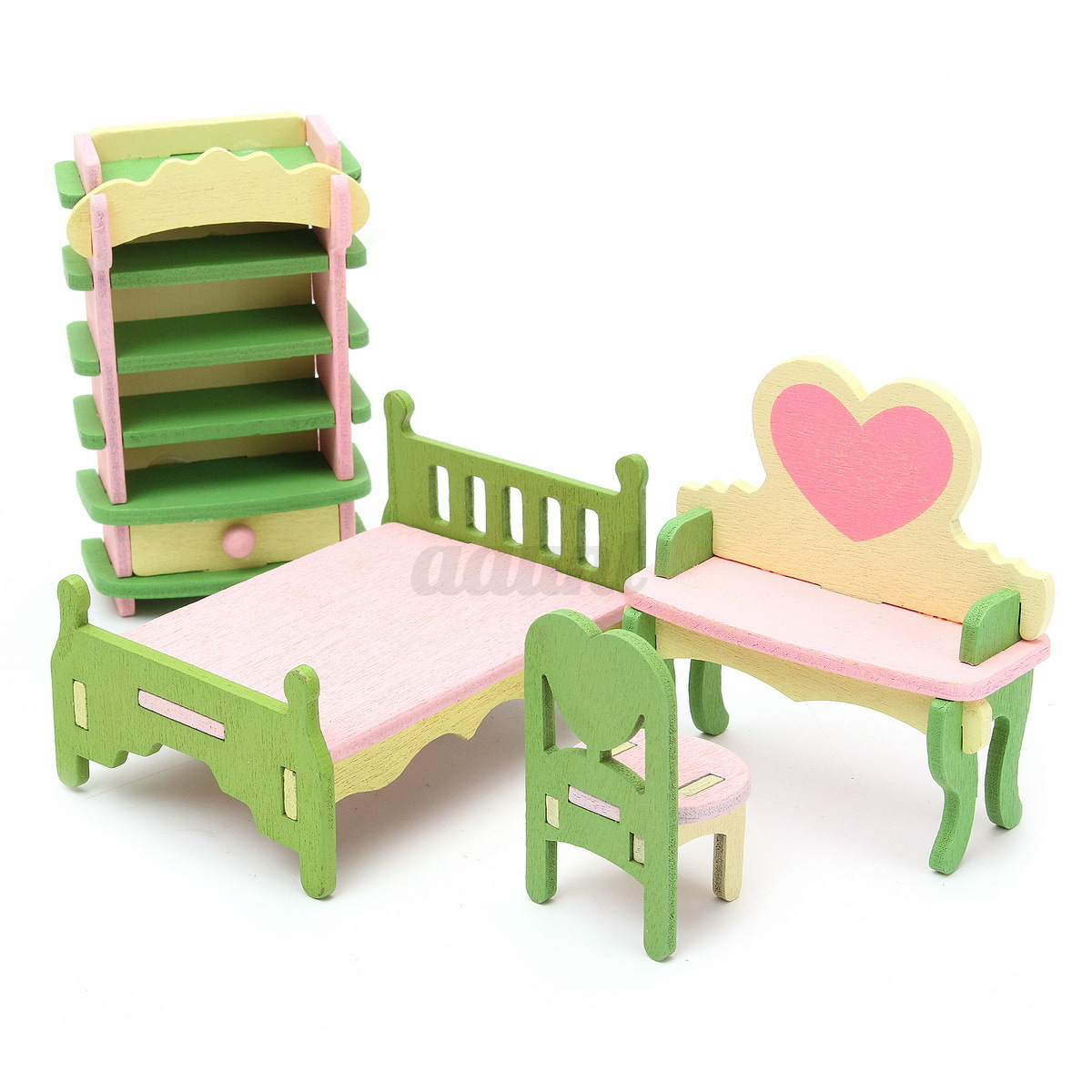 Wooden furniture dolls house family miniature room set child kids gift toy new ebay Dolls wooden furniture