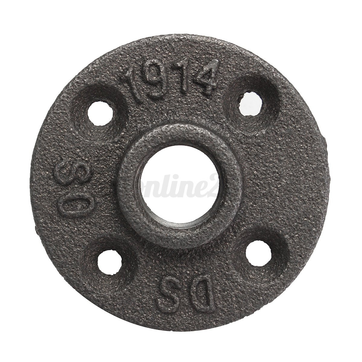 Quot black malleable floor flange iron pipe