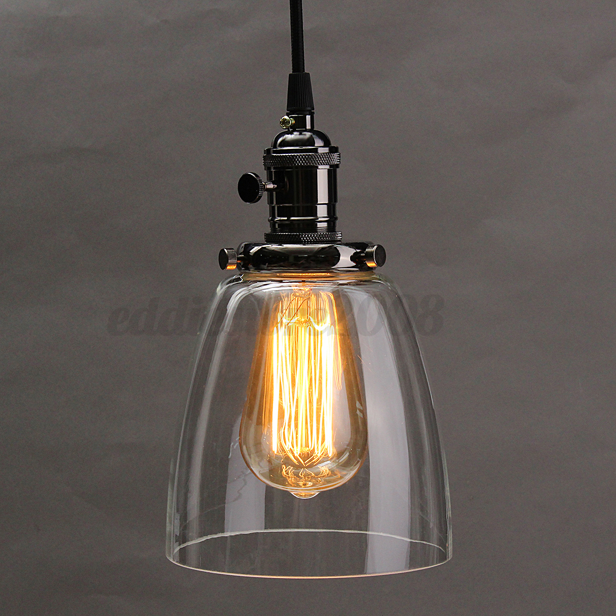 Modern vintage glass cover ceiling pendant light for Suspension moderne noir
