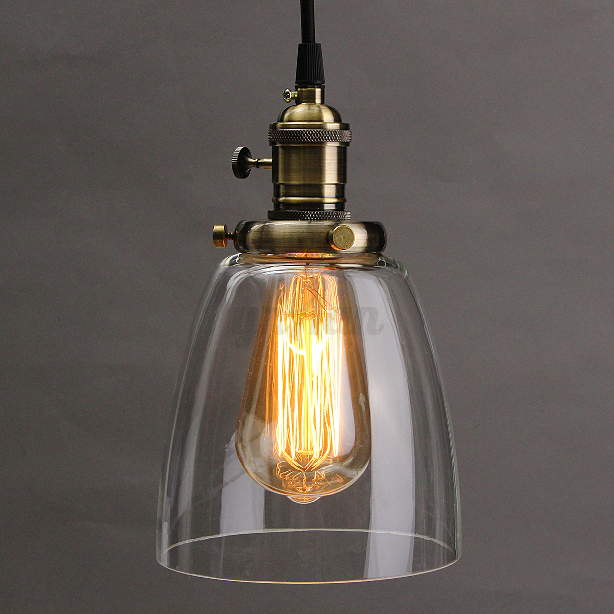 vintage industrial coffee house glass cover ceiling lamp light lampshade fixture ebay. Black Bedroom Furniture Sets. Home Design Ideas