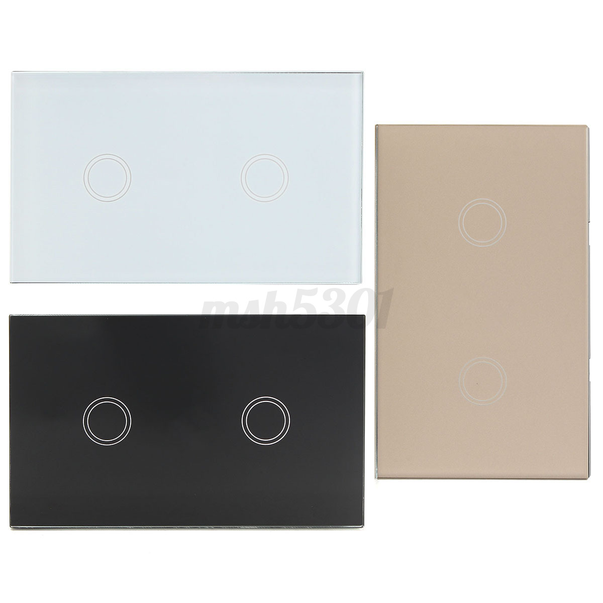 1 2 3 Gang Crystal Glass Smart Dimmer Touch Switch Panel