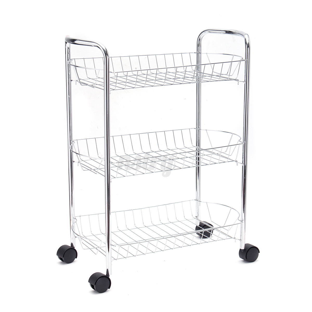 metal kitchen storage racks 3 tier metal chrome kitchen vegetable fruit food storage 7468
