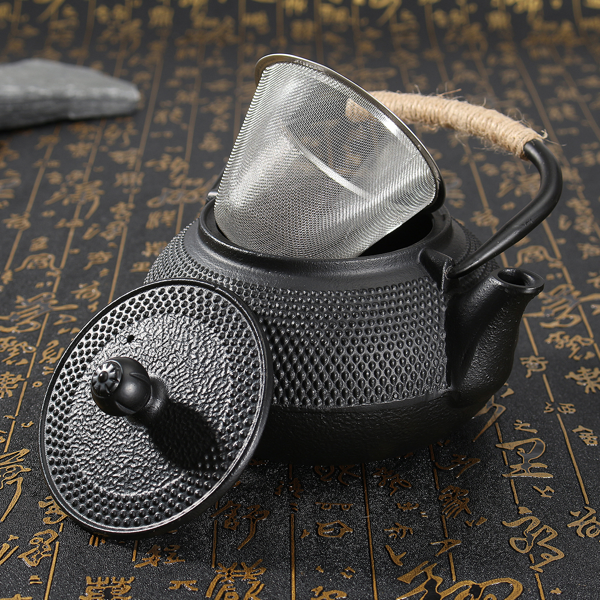 800ml cast iron japanese teapot with infuser strainer water kettle pots boiler ebay - Japanese teapot with infuser ...