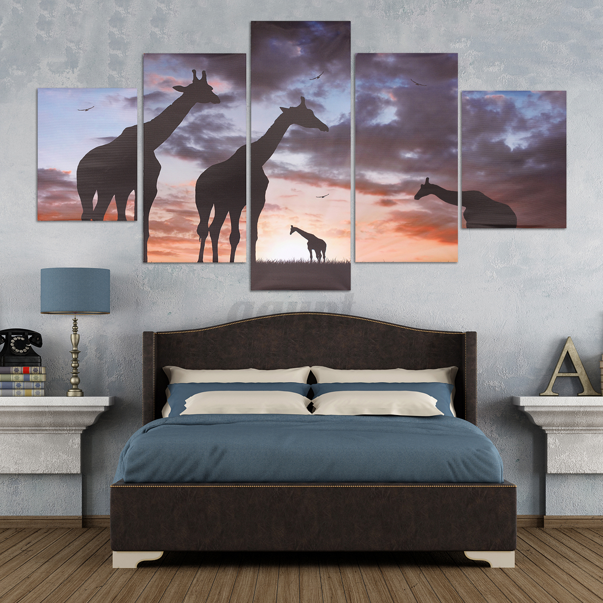 Huge modern abstract canvas print painting picture wall for Canvas mural painting